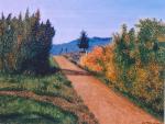 Viottolo di campagna - Gabriella Poggi - Olio