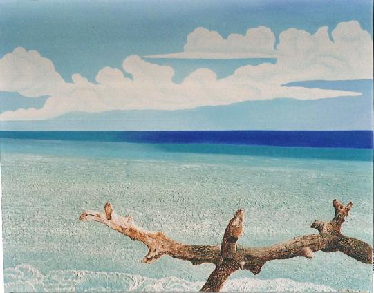 Tronco sul mare  - Gabriella Poggi - Olio