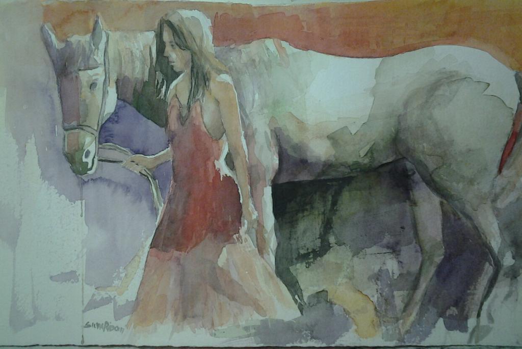 Cavallo bianco - SILVIA RIDOLFI - Acquerello - 140 €