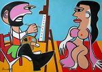 Le peintre et son modèle - Gabriele Donelli - Olio - 600€