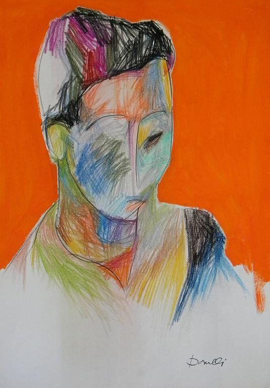 Ritratto di ragazza - Gabriele Donelli - Pastello e acrilico - 700 €