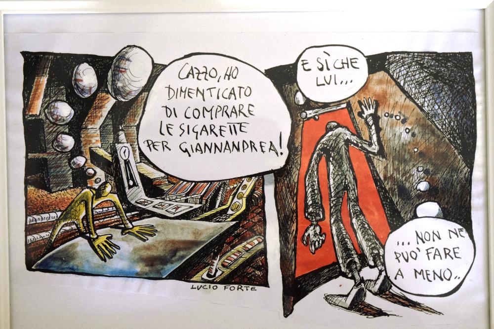 Luigi e Giannandrea 8 - Lucio Forte - Acquerello su Xerocopia - 80 €