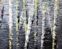 New England Birch trees Reflection - Daniela Pasqualini - Acrilico - Venduto!