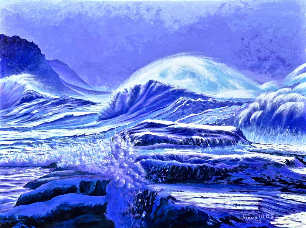 Il mare d'inverno - GRECO Bruno - Acrilico
