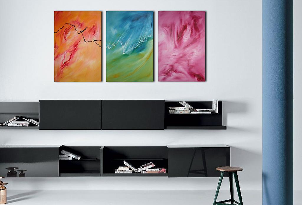 Dolce onda di fuoco, Triptych, n. 3 opere - Davide De Palma - Olio - 300 €