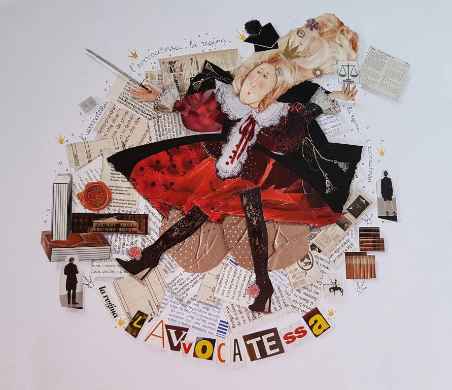 L'AVVOCATESSA ciclo I MESTIERI - BubArt Studio - Collage - 15 €