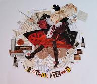 L'AVVOCATESSA ciclo I MESTIERI - BubArt Studio - Collage - 15€
