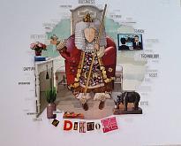 IL DIRETTORE ciclo I MESTIERI - BubArt Studio - Collage - 15€