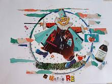 IL DOTTORE ciclo I MESTIERI - BubArt Studio - Collage - 15€