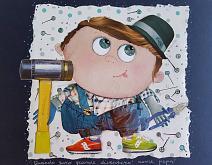 Quando sarò grande diventerò come papà - BubArt Studio - Collage - 15€