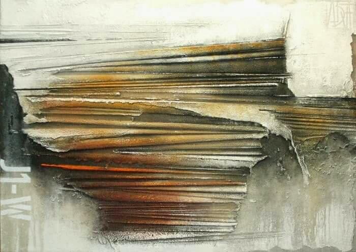 I MIEI MURI...J1-W - FUCLA - Claudio Furlan  - Tecnica mista/materico