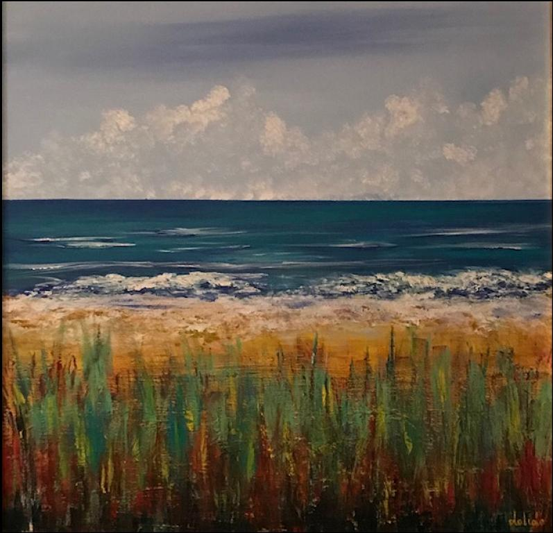 Mare con dune - Dalido Gino Marini - Acrilico