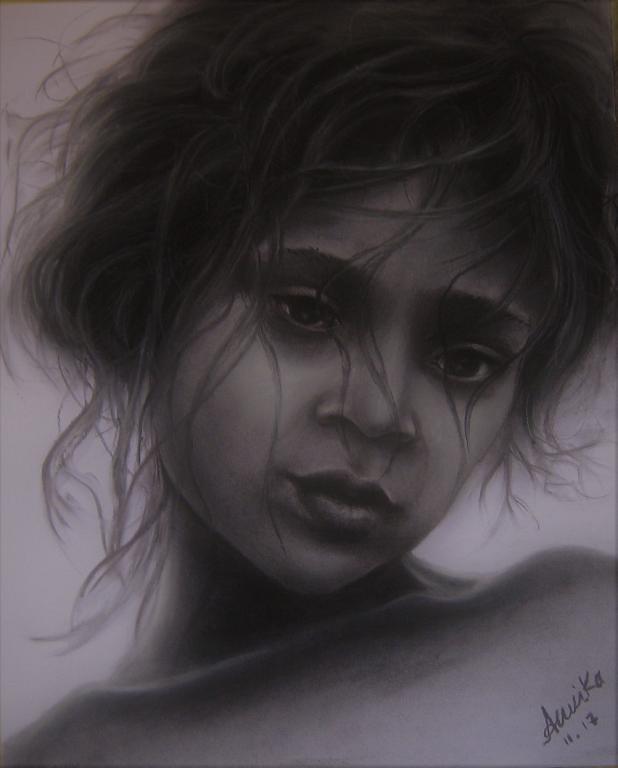 Jasmine - anna casu - Carboncino