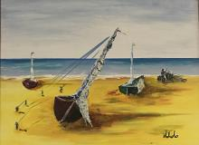 Barche a riva - Dalido Gino Marini - Acrilico