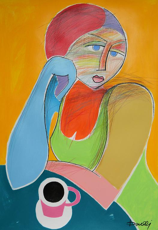 Ritratto di ragazza - Gabriele Donelli - Pastello e acrilico - 800 €