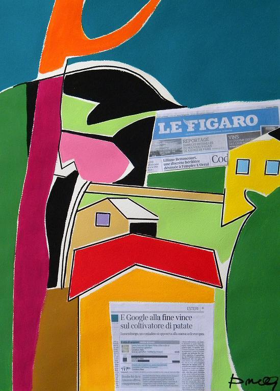 Paesaggio - Gabriele Donelli - Acrilico e collage - 600 €