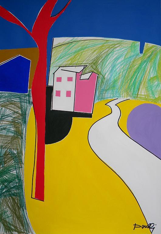 Paesaggio - Gabriele Donelli - Pastello e acrilico - 700 €