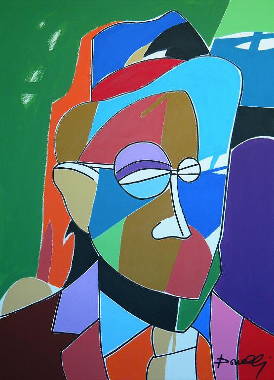 Ritratto di James Joyce - Gabriele Donelli - Acrilico - 800 €