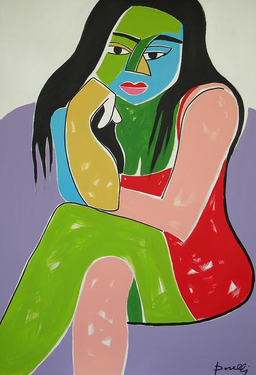 Ritratto di ragazza - Gabriele Donelli - Acrilico - 1400 €