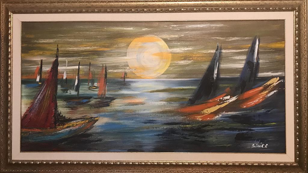 Gioco di mare - Dalido Gino Marini - Acrilico