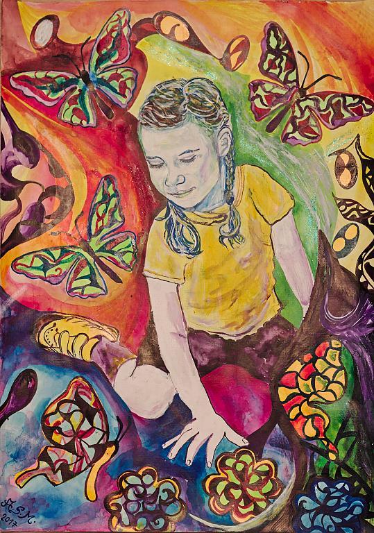 La meraviglia delle farfalle - Andrea  Schimboeck  - Acrilico