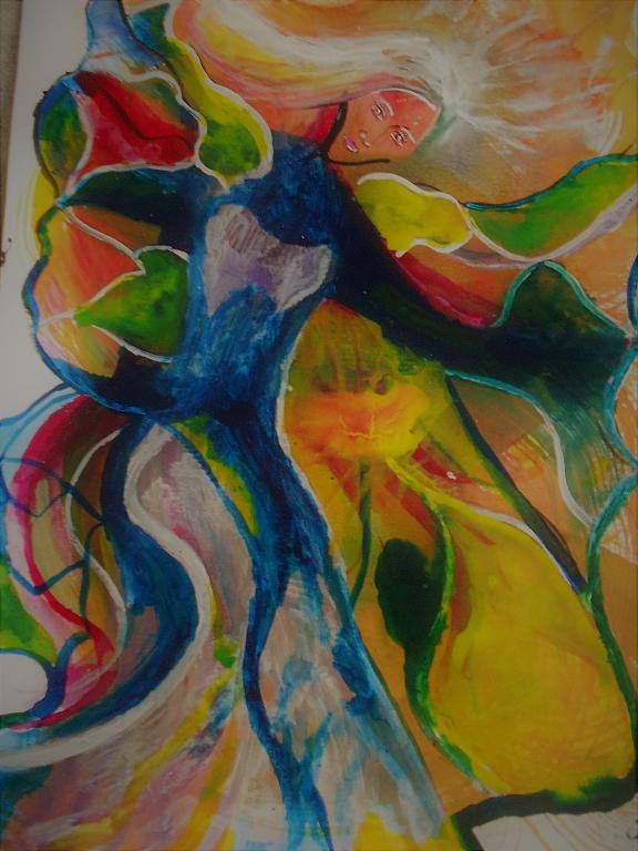 Ballando nel vento - Andrea  Schimboeck  - Acrilico