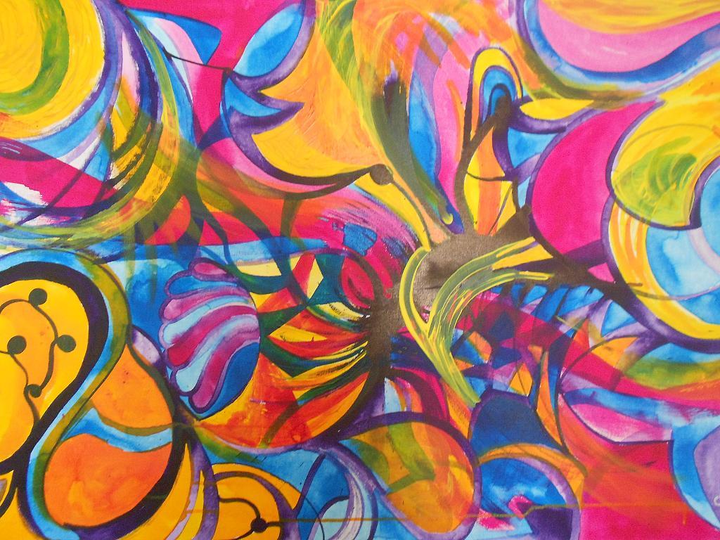 La danza dei colori e delle forme - Andrea  Schimboeck  - Acrilico
