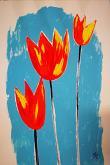 Tulipani arancioni - Alessandra Bisi - Guazzo - 200€