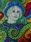 La giovane donna con il cappello - Andrea  Schimboeck  - Acquerello