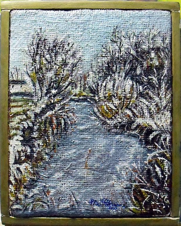 Paesaggio invernale - Pietro Dell Aversana - Olio - 85 €