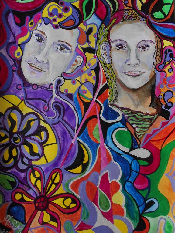 Le sorelle - Andrea  Schimboeck  - Acrilico