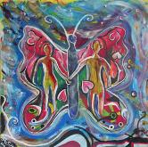 La farfalla dell'amore - Andrea  Schimboeck  - Acrilico