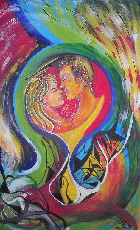 Il cerchio dell'amore - Andrea  Schimboeck  - Acrilico