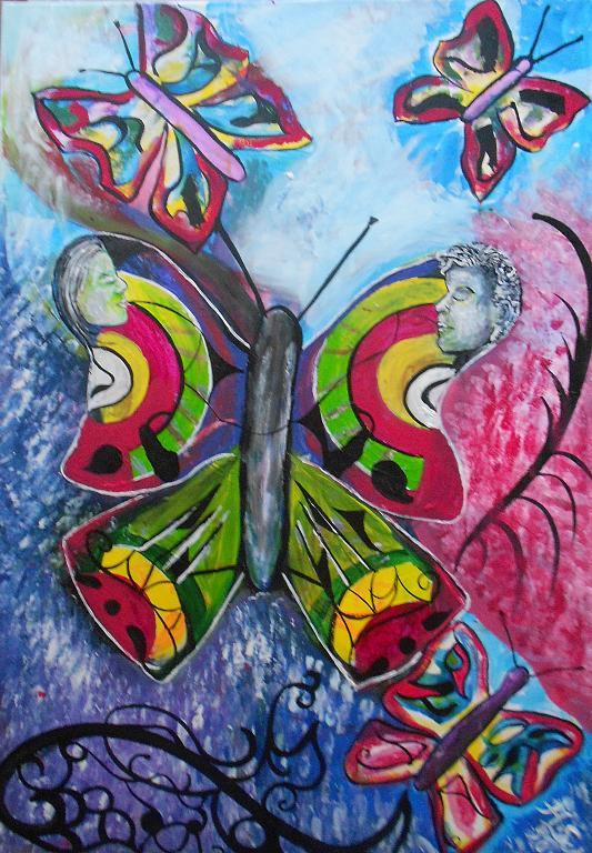 La famiglia delle farfalle - Andrea  Schimboeck  - Acrilico