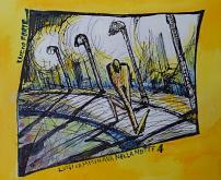 Luigi camminava nella notte n.4 - Lucio Forte - Acquerello