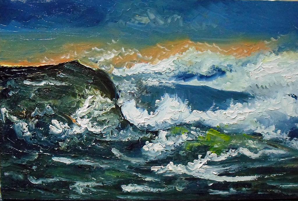 Mare in burrasca - Pietro Dell Aversana - Olio - 105 €