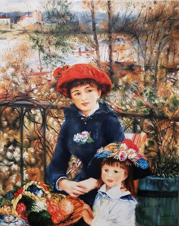 Le due sorelle  La terrazza  Renoir  - Mery BLINDU - Olio