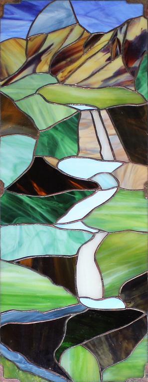 La mia valle - Carlo Bensi - composizione in vetro - 1500 €