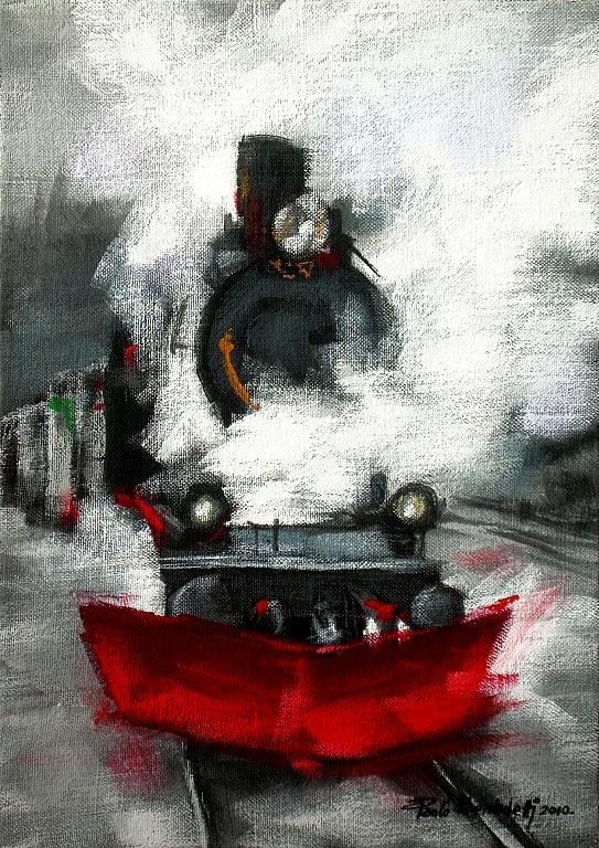 IL TRENO - Paolo Benedetti - Acrilico - 80 €