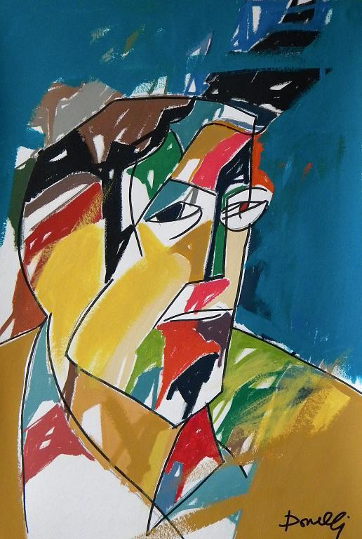 Ritratto di Ernest Hemingway - Gabriele Donelli - Acrilico - 300 €