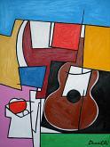 Chitarra e fruttiera - Gabriele Donelli - Olio - 400€