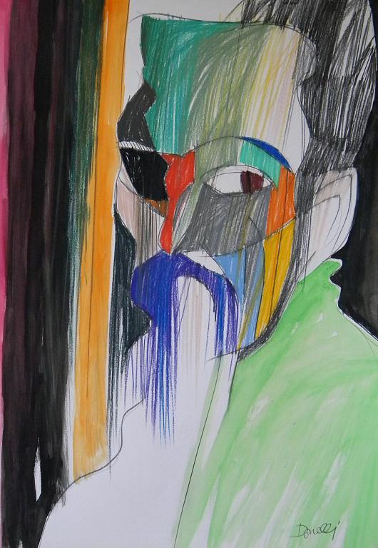 Ritratto di Michelangelo Buonarroti - Gabriele Donelli - Pastello e acrilico - 600 €