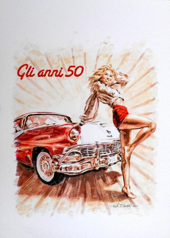 ANNI 50 - Paolo Benedetti - Acrilico - 150 €