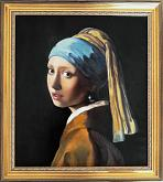 Copia de La ragazza con l'orecchino di perla - Simona Zecca - Olio - Venduto!