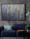 Birch Tree Reflection 8 Series - Daniela Pasqualini - acrilico ed olio