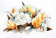 fiori e foglie - Guido Ferrari - Acquerello - 500€