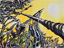 Senza titolo 26 - Lucio Forte - Acrilico, acquerello e china su carta - 95€