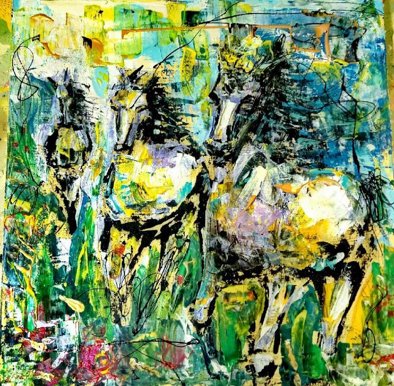 Tre Cavalli - tiziana marra - Action painting - 220,00 €