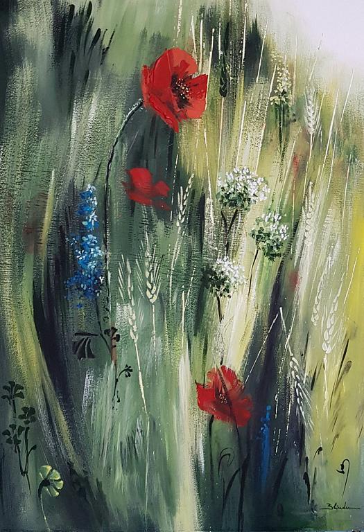 Nel erba - Mery BLINDU - Acrilico