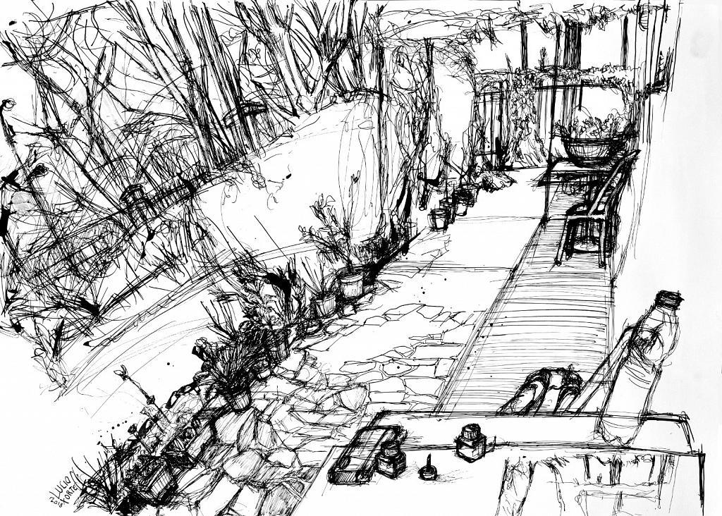 Villa Makky's garden - Lucio Forte - china su carta - 156 €